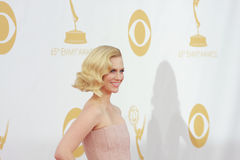 January Jones. At the 65th Primetime Emmy Awards at the Nokia Theatre, LA Live. September 22, 2013  Los Angeles, CA Picture: Featureflash Royalty Free Stock Photo