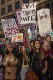 JANUARY 21, 2017, LOS ANGELES, CA. 750,000 participate in Women's March, activists protesting Donald J. Trump in nation's largest  Stock Images