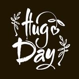 January 21 - national hug day hand lettering inscription text to winter holiday design, calligraphy vector illustration. January 21 - national hug day - hand Stock Photos