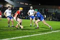 Co-Op Superstores Munster Hurling League 2019 match between Cork and Waterford at Mallow GAA Sports Complex royalty free stock images