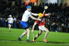 Co-Op Superstores Munster Hurling League 2019 match between Cork and Waterford at Mallow GAA Sports Complex royalty free stock photos