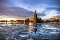 January 21, 2017: Panorama of the City Hall of Stockholm by the Stock Photo