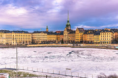January 21, 2017: Panorama of the old town of Stockholm, Sweden Royalty Free Stock Images
