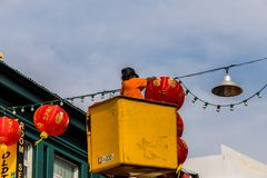 A typical scene in Phuket Town in Thailand royalty free stock photo