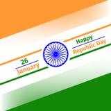 26 January Republic Day of Iindia. Vector illustration for 26 January Republic Day of Iindia Royalty Free Stock Photography