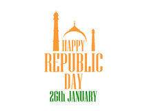 26 january Republic Day India. The text of congratulations for the banners and posters. Vector Stock Images
