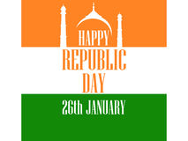 26 january Republic Day India. The text of congratulations for the banners and posters. Vector Royalty Free Stock Photography