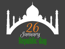 26 january Republic Day India. Vector Stock Image