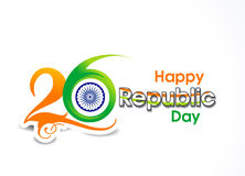 26 january Republic day text background Royalty Free Stock Photography