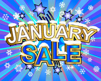 January Sale Royalty Free Stock Photo
