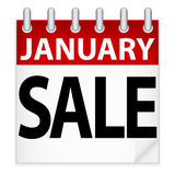 January Sale Icon. An illustration of a January Sale calendar icon Royalty Free Stock Image