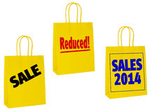 January sales carrier bags,shoppers Royalty Free Stock Photography