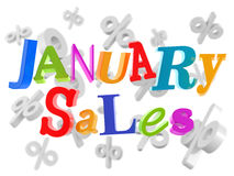 January sales low prices Stock Image