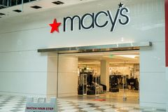 Macy`s store located in Westfield Valley Mall royalty free stock image