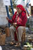 Mayan shaman at ritual in Guatemla Stock Images