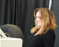 January 21st 2016. World of wheels Pittsburgh PA. Catherine Bach (Daisy Duke) of the dukes of Hazzard makes an appearance at the world of wheels autoshow in Royalty Free Stock Photography