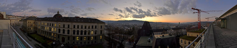 Zurich Panorama Royalty Free Stock Photography