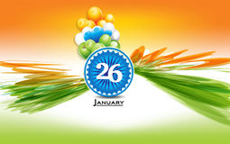 26 January text background with ashok chakta. Vector illustration Stock Image