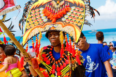 January 10th 2016. Boracay, Philippines. Festival Ati-Atihan. U Royalty Free Stock Image