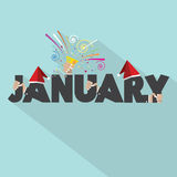 January Typography Design Royalty Free Stock Images