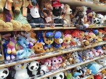 January 25, 2018 Ukraine, Kiev shop soft toys, children`s products in the shopping center. January 25, 2018 Ukraine, Kiev shop soft toys, children`s products the stock photos