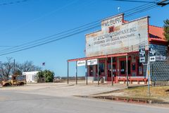 Walburg Biergarten, Groceries and Dry Goods Store Royalty Free Stock Photography