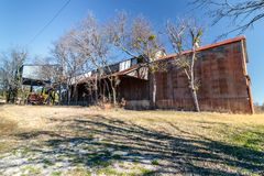Old Crawford Mill in Walburg Texas, Movie Set Royalty Free Stock Photo