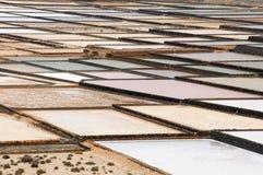 Janubio salinas in Lanzarote Stock Photo
