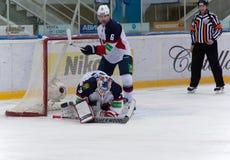 Janus Jaroslav (32) goaltender of Slovan team Stock Images