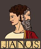 Janus z tytułem Obraz Stock