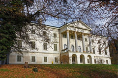 Janusevec castle. Located in Prigorje Brdovecko, near Zagreb. It is the highest achievement of the classicist architecture in Croatia Royalty Free Stock Photos