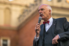 Janusz Korwin-Mikke or JKM, is a conservative liberal Polish politician, Royalty Free Stock Photos
