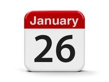 26 janvier Image stock