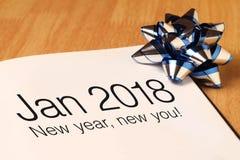 Janvier 2018 avec la décoration Photos libres de droits
