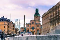 21 janvier 2017 : Cathédrale de Stockholm, Suède Photos stock