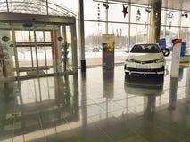 21 janvier 2018 fabricant officiel de fonctionnaire de salle d'exposition de concessionnaire de vechicle de l'Ukraine Kiev Toyota Image libre de droits