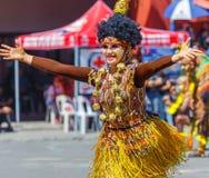 24 janvier 2016 Iloilo, Philippines Festival Dinagyang Unid Photographie stock libre de droits