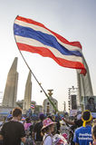 5 janvier 2014 : Protestataires anti-gouvernement chez Democra Image stock