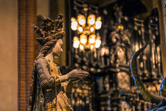 21 janvier 2017 : Statue d'un saint dans la cathédrale de Stockhol Photo libre de droits