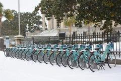 3 janvier 2018, tempête de neige à Charleston, Sc Images stock
