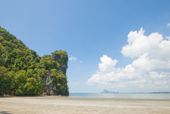 Jao Mai Beach. Beach in southern of Thailand Royalty Free Stock Photo