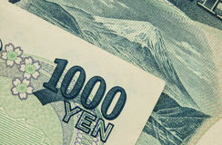 Japão 1000 contas dos ienes Fotografia de Stock Royalty Free