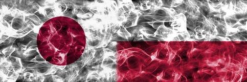 Japão contra a bandeira do fumo do Polônia, grupo H, campeonato do mundo 2018 do futebol, Mo Ilustração do Vetor
