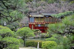 Japão curso Kobe Sorakuen Garden março de 2018 fotos de stock royalty free