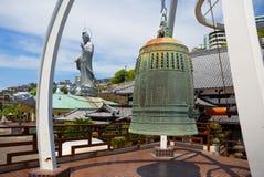 japão despido O sino no templel de Fukusai Foto de Stock Royalty Free