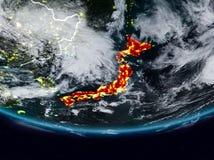 Japão durante a noite ilustração stock