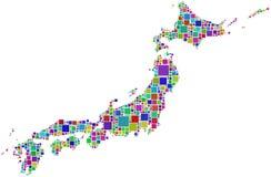 Japão em um mosaico colorido Fotografia de Stock