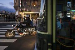 Japão - Kyoto - condutor de ônibus imagem de stock