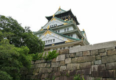 Japão Osaka Castle Garden Imagem de Stock Royalty Free