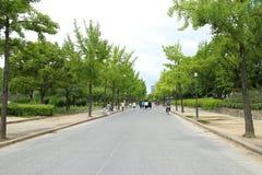 Japão Osaka Castle Garden fotografia de stock